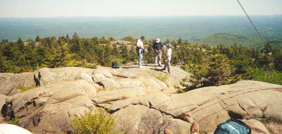 John, Rich, and Sal on Mount Kearsarge Summit (photo by Webmaster)