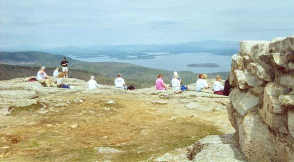 Views of Lake Winnipesaukee from the summit of Mt. Major (photo by Sal Silvestre)