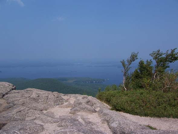 Lake Winnipesaukee as seen from the summit of Mt. Major (photo by Mary)