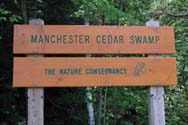 Preserve entrance sign (photo by Ben Kimball for the NH Natural Heritage Bureau)