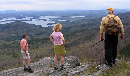 Viewing Squam Lake from Mount Percival