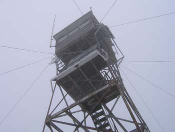The fire tower on Red Hill (photo by Mark Malnati)