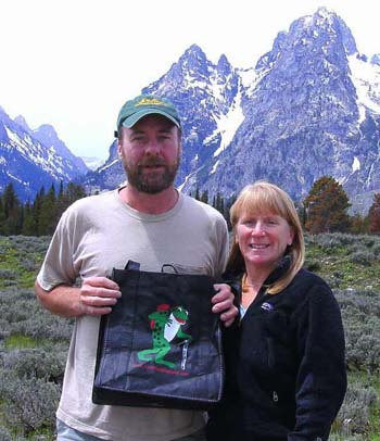 Froggy bag on vacation at the Tetons (photo by Perry Williams)