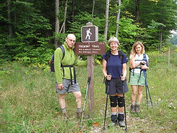 At the Mt. Tremont trailhead (photo by Sue Murphy)